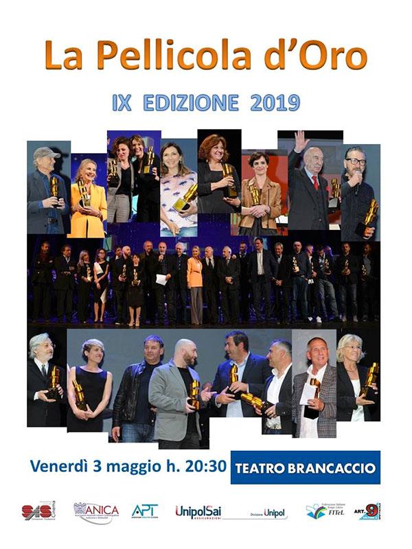 """Premio de """"La Pellicola d'Oro 2019"""""""