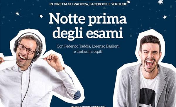 """Stasera in diretta da Radio 24 lo speciale """"La notte prima degli esami"""""""