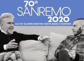 Alviero Martini- Il look per Marco Sentieri a Sanremo