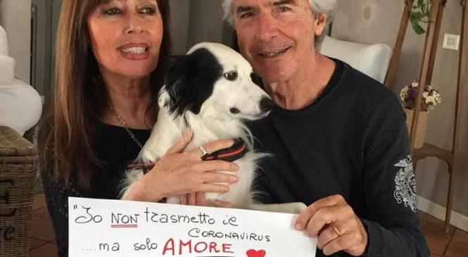 """Tullio Solenghi e la moglie Laura: """"Gli animali non trasmettono il Coronavirus, ma solo Amore"""""""