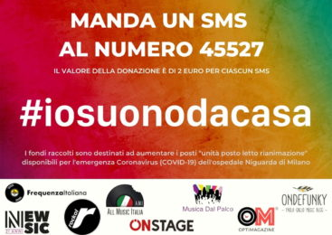 #IOSUONODACASA-Più di 25 mila euro di donazioni raccolti