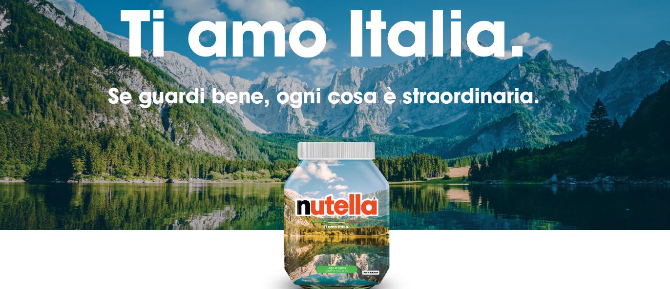 """Nutella – La special edition """"Ti amo Italia"""""""