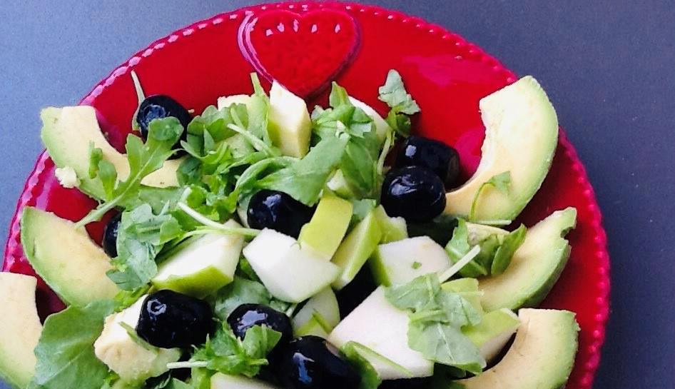 Insalata di avocado e rucola