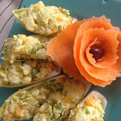 Pasqua in cucina- Insalata russa con maionese di lupini